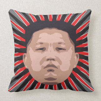 Where's Kim Jong Un? Throw Pillow