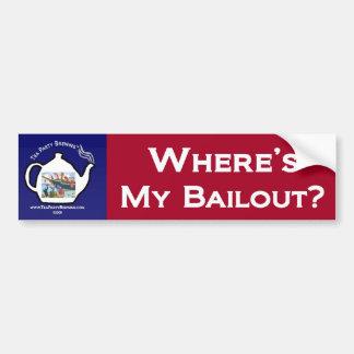Where's My Bailout Bumper Sticker