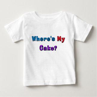 """""""Where's My Cake?"""" baby shirt"""