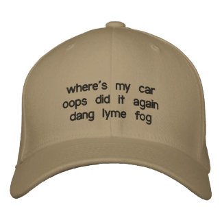 where's my car oops did it again dang lyme fog embroidered hat