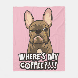 Where's My Coffee cotton blanket