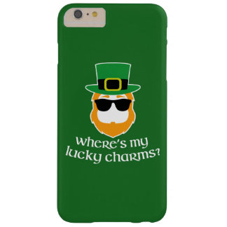Where's My Lucky Charms? St Patrick Day Leprechaun Barely There iPhone 6 Plus Case