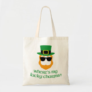 Where's My Lucky Charms? St Patricks Day Budget Tote Bag
