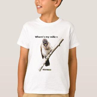 Where's my milk?? LOLBirds Light-Colored T-shirt