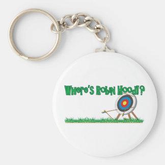 Where's Robin Hood Basic Round Button Keychain