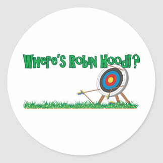 Where's Robin Hood Classic Round Sticker