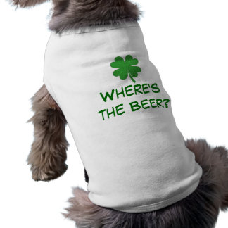 Where's the Beer doggie shirt