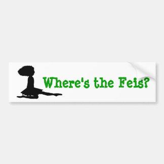 """Where's the Feis?"" Irish Dance Bumper Sticker"