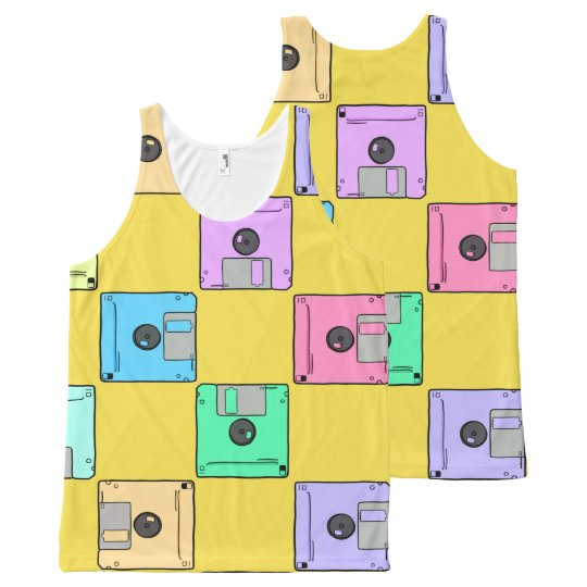 Where's the floppy disc? All-Over-Print tank top