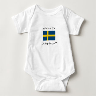 where's the Smörgåsbord? Baby Bodysuit