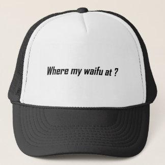 Where's Waifu? funny tee Trucker Hat