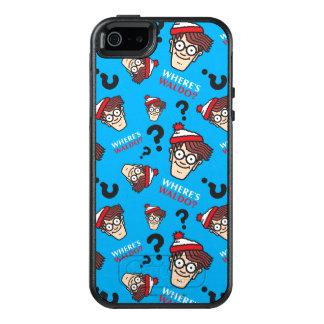 Where's Waldo Blue Pattern OtterBox iPhone 5/5s/SE Case