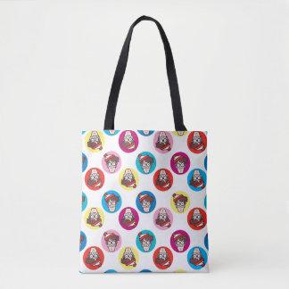 Where's Waldo Fun Circle Pattern Tote Bag