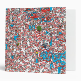 Where's Waldo Land of Woofs Vinyl Binder