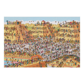 Where's Waldo | Last Days of the Aztecs Poster