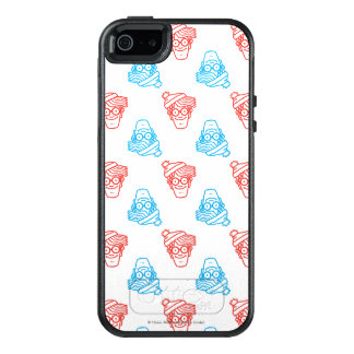 Where's Waldo Red and Blue Face Pattern OtterBox iPhone 5/5s/SE Case