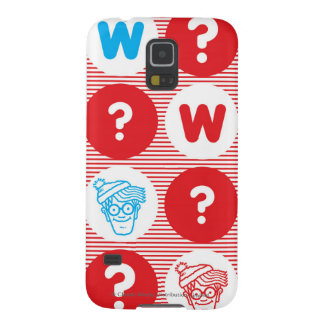 Where's Waldo Red, White and Blue Pattern Galaxy S5 Covers