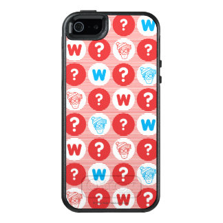 Where's Waldo Red, White and Blue Pattern OtterBox iPhone 5/5s/SE Case