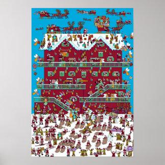 Where's Waldo | Santa's Chalet Poster