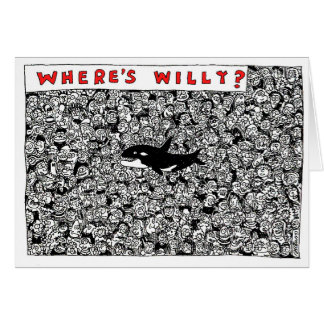 Where's Willy Cartoon by Sam Backhouse Card