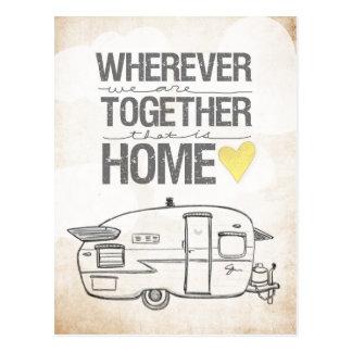 Wherever We Are Together Shasta Trailer Postcard