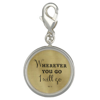 Wherever you go, I will go Bible Verse Photo Charms