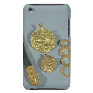 Whetstone et anneaux avec la décoration granulée, étui iPod touch