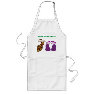 which came first? chicken or eggplant? Apron