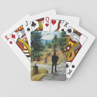 Which direction to take playing cards