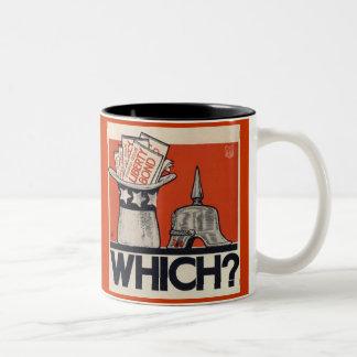 Which? Liberty Bond WW1 Vintage Two-Tone Coffee Mug