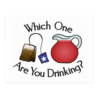 Which One Are You Drinking? Postcard