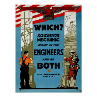 Which? Soldier or Mechanic Poster