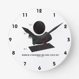 Which Universe Do You Live In? Physics Humor Clocks