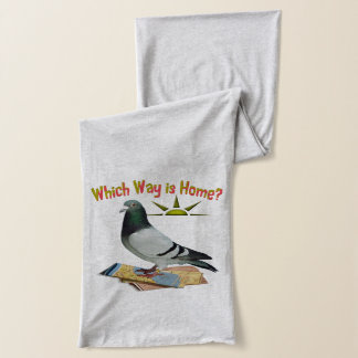 Which Way is Home? Fun Lost Pigeon Jersey Scarf