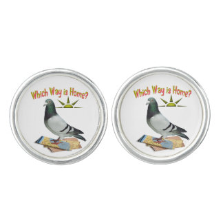 Which Way is Home? Lost Pigeon Cufflinks