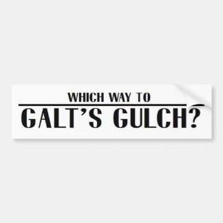Which Way to Galt's Gulch? Bumper Sticker