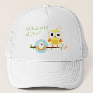 Which WIll It Be Yellow Bird Gender Reveal Shower Trucker Hat