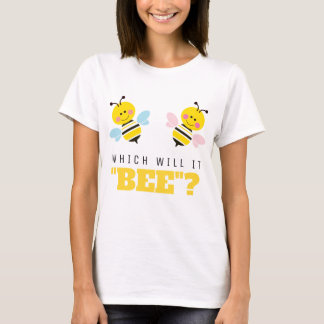 Which Will It Bee Gender Reveal Cartoon T-Shirt