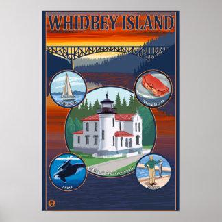 Whidbey Island, WashingtonScenic Travel Poster