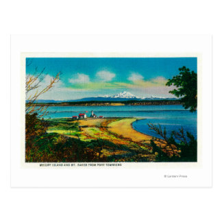 Whidby Island and Mt. Baker from Port Townsend Postcard