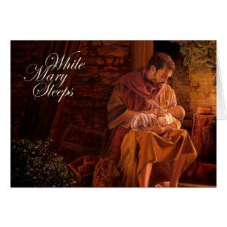 While Mary Sleeps Card