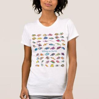 Whim To Swim Cartoon Fish T-Shirt