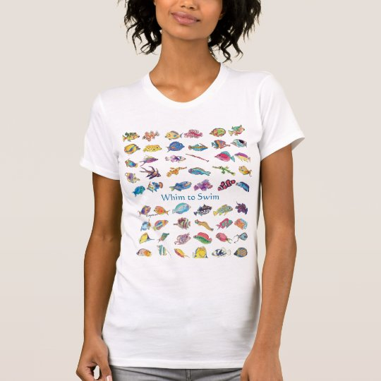Whim To Swim Cartoon Fish T-Shirt