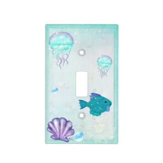 Whimsey Aquarium 2 Folk Art NURSERY KIDS Light Switch Cover
