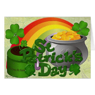 Whimsey St Patricks Day Greeting Card