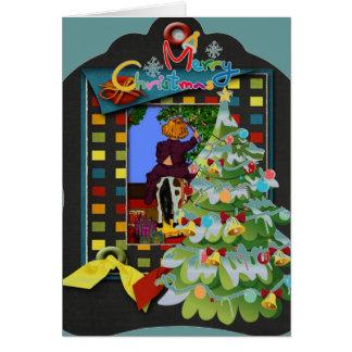 Whimsical 3d Christmas Holiday Greeting Card