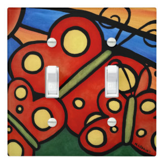Whimsical Abstract Butterflies Light Switch Cover