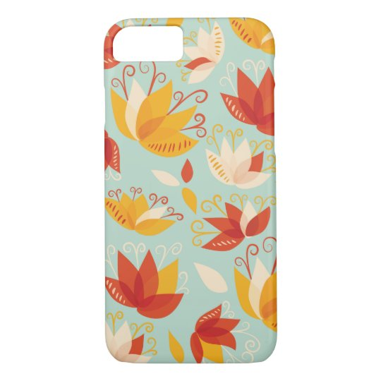 Whimsical Abstract Colourful Lily Floral Pattern iPhone 8/7 Case