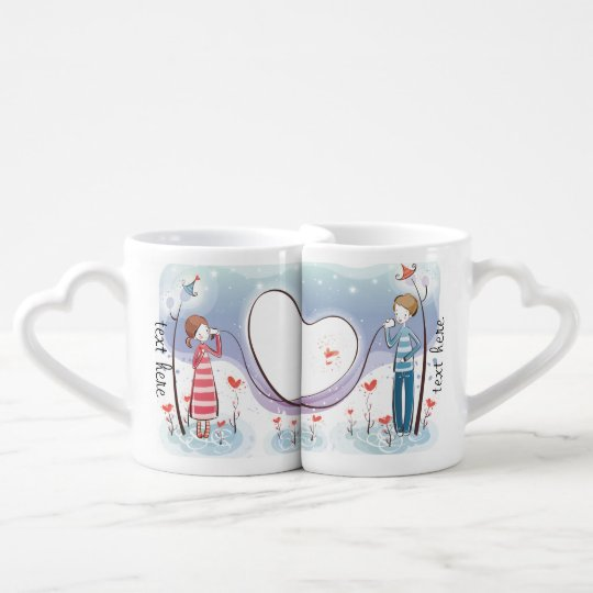 Whimsical Across the Miles Coffee Mug Set