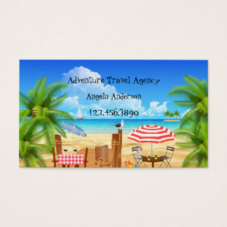 Whimsical Adventure Travel Agency Business Card